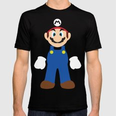 Mario - Minimalist - Nintendo Mens Fitted Tee LARGE Black