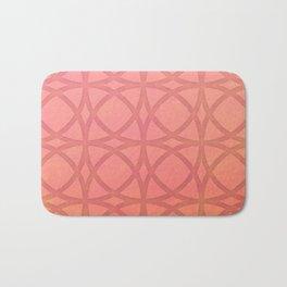 coral pink minimal pattern with geometric lines Bath Mat