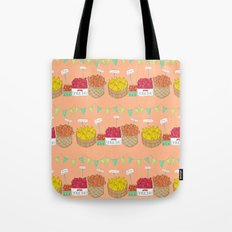 Farmer's Market Pattern Tote Bag