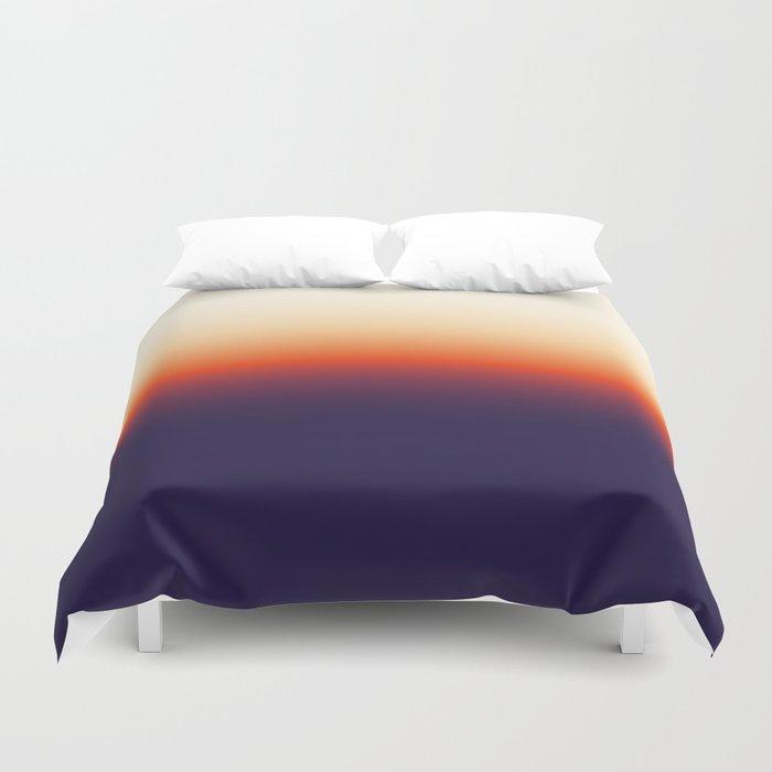 Infrared Orange & Ultraviolet Purple Sunrise Duvet Cover