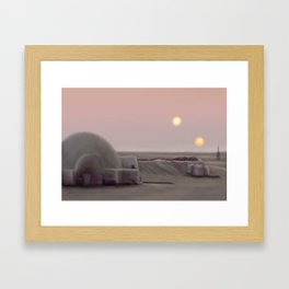 Twin Suns Dessert Framed Art Print