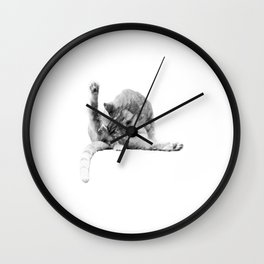 Toilet paper is overrated sarcastic cats Wall Clock