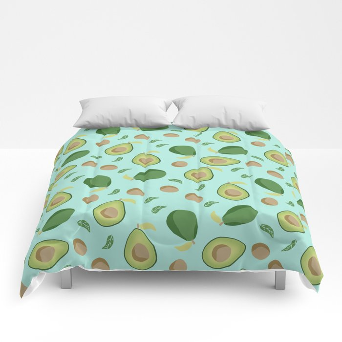 Avocado gen z fashion apparel food fight gifts Comforters