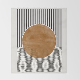 Abstract Modern Poster Throw Blanket