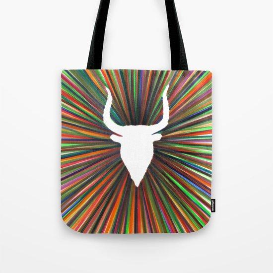 bull radiant color Tote Bag