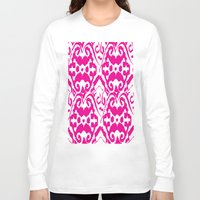 ikat Long Sleeve T-shirts featuring Ikat Pink by Leap of Faith Clothing