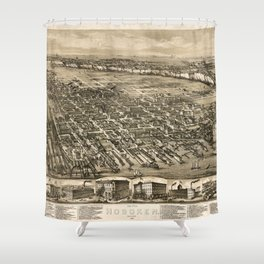 Map Of Hoboken 1881 Shower Curtain