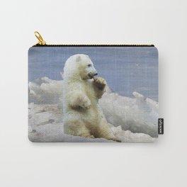 Cute Polar Bear Cub & Arctic Ice Carry-All Pouch