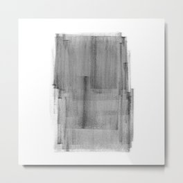 Abstract Watercolor Painting Black and White Wall Art Print Scandinavian Ink Living Room Decor Metal Print