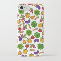 vegetables iPhone & iPod Cases featuring Vegetables by Alisa Galitsyna