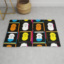 Leo Tolstoy - Russian writer of War and Peace, pop art style collage Rug