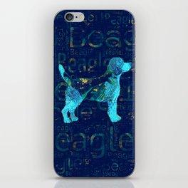 Decorative Beagle  dog iPhone Skin