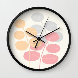 Pastel Leaves  #Society6 #decor #buyart Wall Clock