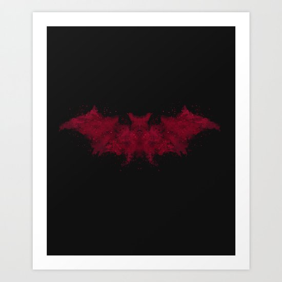 I see... a bat. Art Print