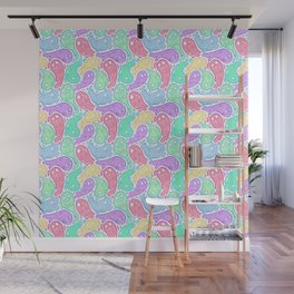 Good Lil' Ghost Gang in Bright Colors Wall Mural