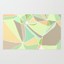 Pastel mosaic  Abstract artwork  Mint peach beige Rug