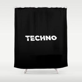 Techno sliced Shower Curtain