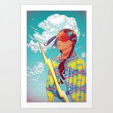 Thunder Woman Art Print