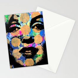 SEX GIRL SUPERSTAR FEMALE WOMAN NOW POP ART PAINTING Stationery Cards