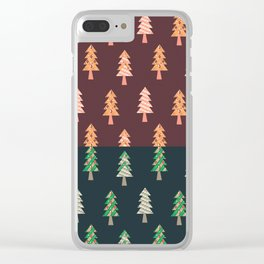 Xmas Tree Asymmetric Pattern Clear iPhone Case