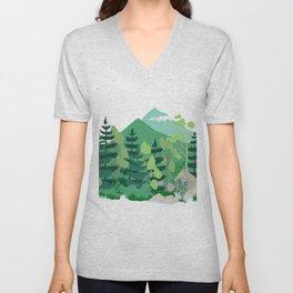 Boreal forest Unisex V-Neck