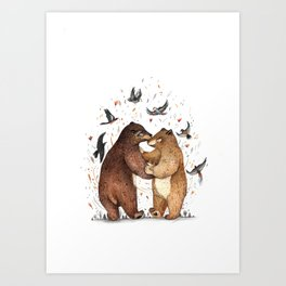 Bear Dance Art Print