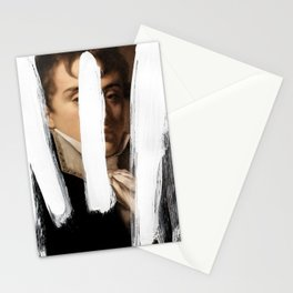 Brutalized Portrait of a Gentleman 2 Stationery Cards