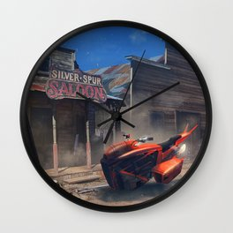 Old Western Town Wall Clock