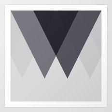 Sawtooth Blue Grey Art Print
