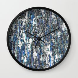 Abstract blue 2 Wall Clock