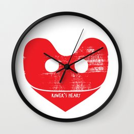 A Rower's Heart Wall Clock