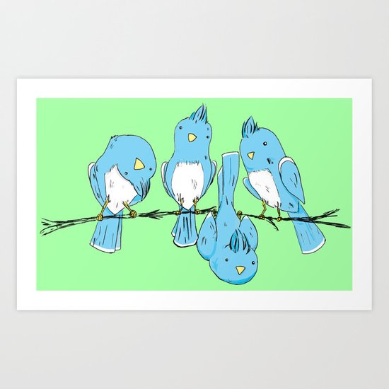 dem birds Art Print