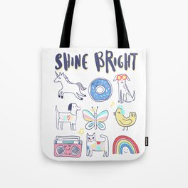 Unicorn Cat Dog Tote Bag