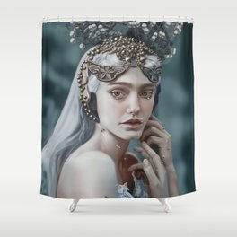 Girl with Headresss Shower Curtain