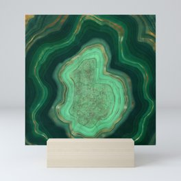 Malachite Texture 06 Mini Art Print