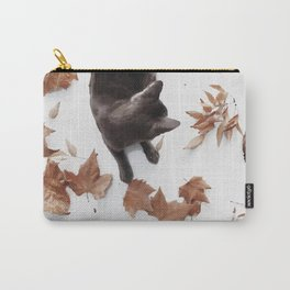 Cat leaves Carry-All Pouch