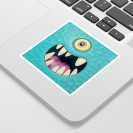 Cartoony monster face Sticker
