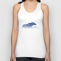 moose Tank Tops featuring Moose by fly fly away