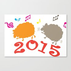 Dancing sheep 2015 year of the animal Canvas Print