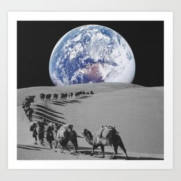 Earth caravan Art Print
