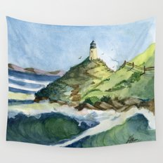 Peaceful Lighthouse V Wall Tapestry