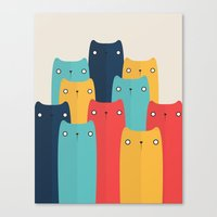 cats Canvas Prints featuring Cats by Volkan Dalyan