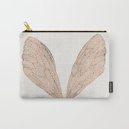 Cicada Wings in Rose Gold Carry-All Pouch