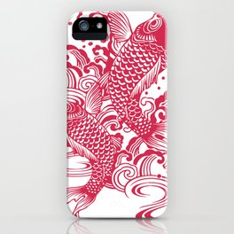 Red Koi iPhone Case