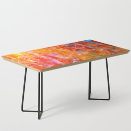 Abstract with Circle in Gold, Red, and Blue Coffee Table