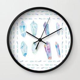 Watercolor Gemstones Wall Clock