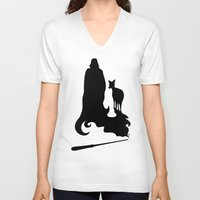 snape V-neck T-shirts featuring Always by Mari Anrua
