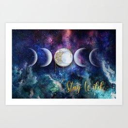 Celestial Ocean Moon Phases | Stay Wild Art Print