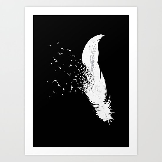 Birds of a Feather (Black) Art Print
