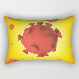 3D Virus - Red Orange Rectangular Pillow